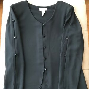 Dressy black blouse for special formal occasion